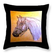Quarter Horse W/ Rope Halter Throw Pillow