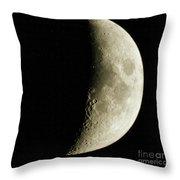 Quarter Moon Photo By W G  Smith Throw Pillow