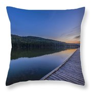 Quarter Moon Reflected In The Waters Throw Pillow