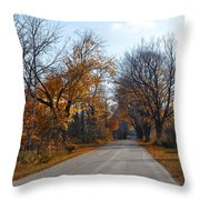 Quarterline Road Throw Pillow