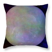 Quartz Crystal Ball Throw Pillow