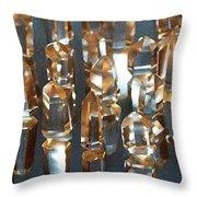 Quartz Crystal Collection Throw Pillow