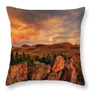 Quartzite Formations Throw Pillow