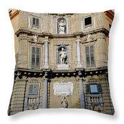 Quattro Canti In Palermo Sicily Throw Pillow