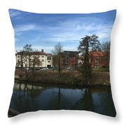 Quayside Oasis Park Panorama Throw Pillow