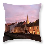 Quayside Rosy Sunlight Throw Pillow