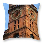 Quebec Bank Building Throw Pillow