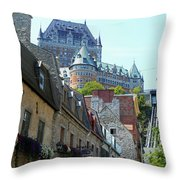 Quebec City 61 Throw Pillow