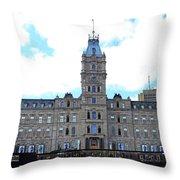Quebec City 78 Throw Pillow
