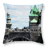 Quebec City 81 Throw Pillow