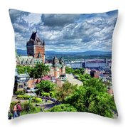 Quebec City Overlook Throw Pillow