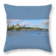 Quebec City Waterfront  6320 Throw Pillow