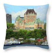 Quebec City Waterfront 6324 Throw Pillow