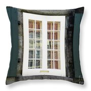 Quebec City Windows 47 Throw Pillow