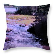 Quebec River Throw Pillow