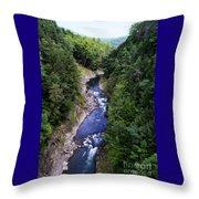 Quechee Gorge In Vermont Throw Pillow