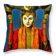 Queen Amidala Senate Costume Throw Pillow