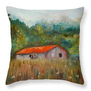 Queen Anne Lace Farm Throw Pillow