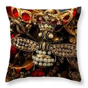 Queen Bee Throw Pillow by Susan Vineyard