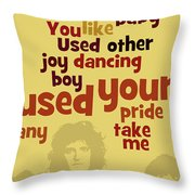 Queen. Can You Order The Lyrics? Dreamers Ball. Throw Pillow