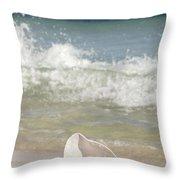 Queen Conch On The Beach Throw Pillow