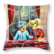 Queen Elizabeth And Prince Philip At Newby Hall Throw Pillow