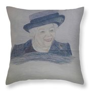 Queen Elizabeth Throw Pillow