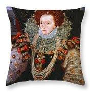 Queen Elizabeth I, C1588 Throw Pillow