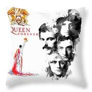 Queen Forever Remix II Throw Pillow