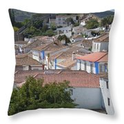 Queen Isabella's Castle Portugal Throw Pillow