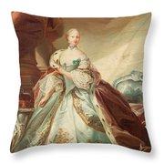 Queen Juliane Marie Of Denmark Throw Pillow