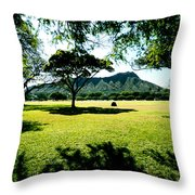 Queen Kapiolani Park Throw Pillow