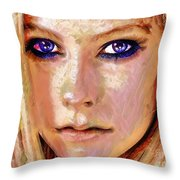 Queen Lavigne Throw Pillow