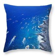 Queen Liliuokalani Canoe Race Throw Pillow