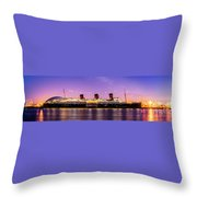 Queen Mary At Dusk_pano Throw Pillow