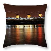 Queen Mary Panorama  Throw Pillow