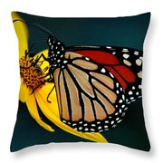 Queen Monarch 2 Throw Pillow