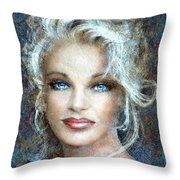 Queen Of Glamour Bright Throw Pillow