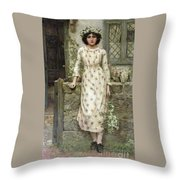 Queen Of May Throw Pillow