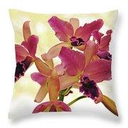 Queen Of Orchids Throw Pillow