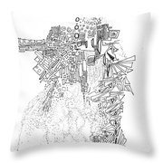 Queen Of The Afternoon Throw Pillow