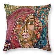 Queen Of The Cosmos Throw Pillow