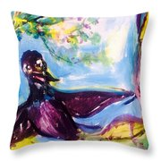 Queen Of The Crows Throw Pillow
