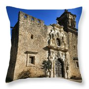 Queen Of The Missions - San Jose Throw Pillow