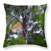 Queen Palm Gold Throw Pillow