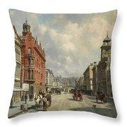 Queen Street, Aukland Throw Pillow