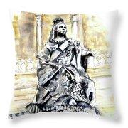Queen Victoria In Valletta Throw Pillow