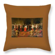Queen Victoria Opening  Throw Pillow