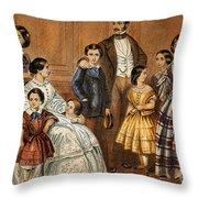 Queen Victoria, Prince Albert Throw Pillow