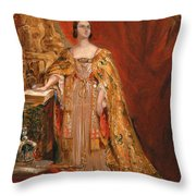 Queen Victoria Taking The Coronation Oath 28 June 1838 Throw Pillow